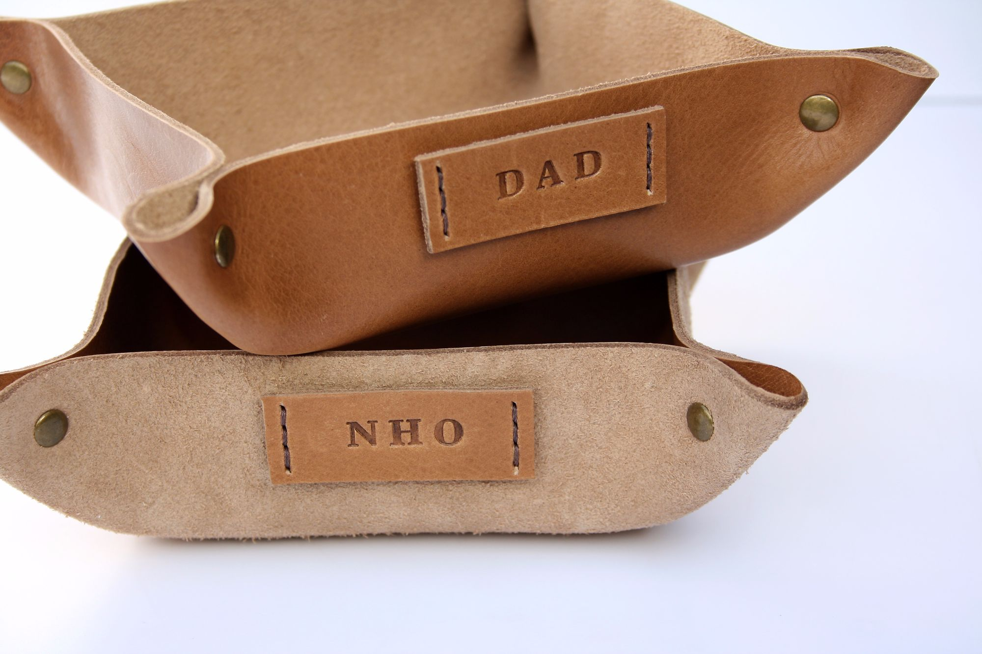 Personalised Leather Coin Trays