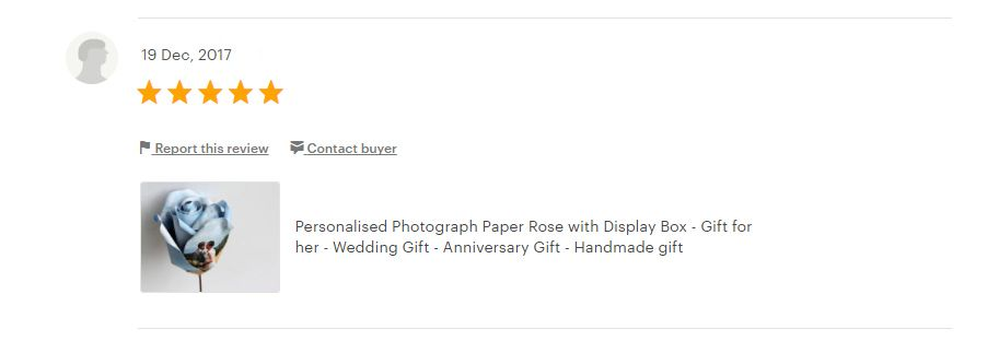 5 star review photo rose