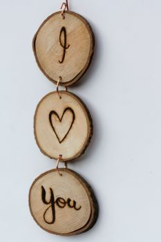 Hanging Wood Slice & Copper I