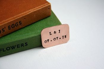 Personalised Up-cycled Copper Token Message