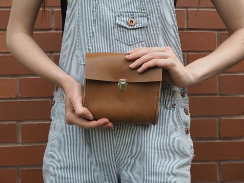 Brown Leather Waist Bag Utility 23