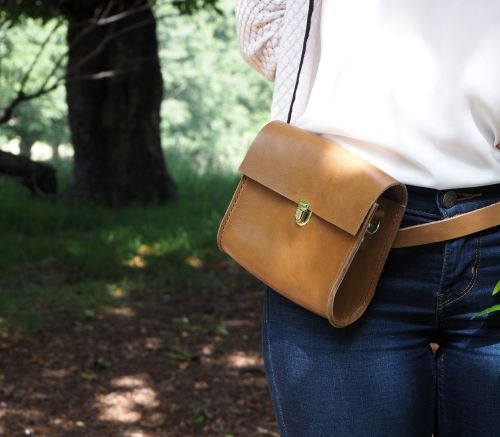 Utility Bag Tan Brown Leather