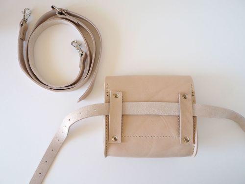 Cream Leather Waist Bag Utility 8