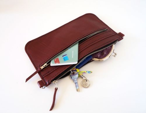 Oxblood Red Leather Zip Bag 9