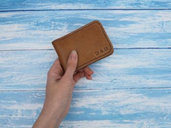 Genuine Leather Handmade Folded Wallet