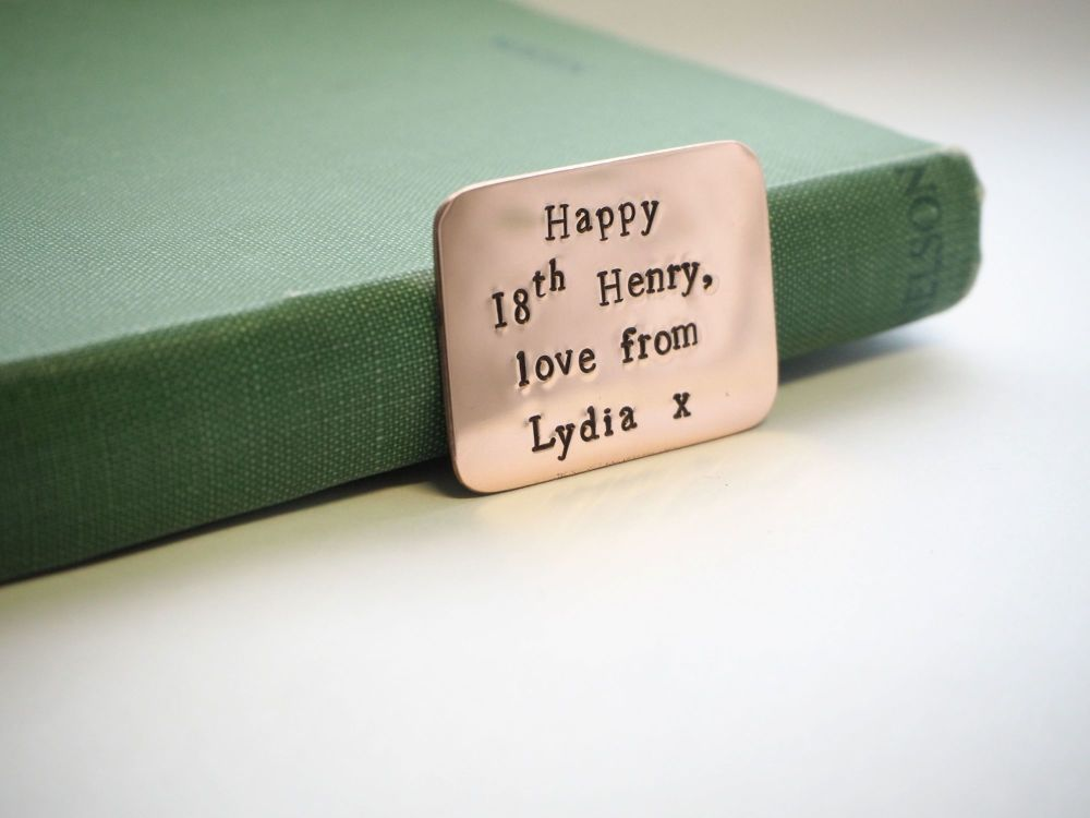 Personalised Copper Token Gift Message