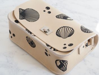 Genuine Hand Stitched Leather 'Abigail' Bag - Seashell Edition