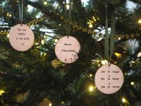 Copper Bauble - Merry Christmas