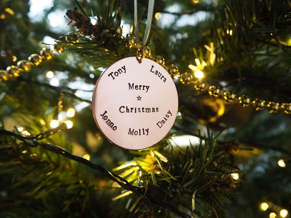 Copper Bauble - PRE ORDER for NOV 2020 - Personalised Names