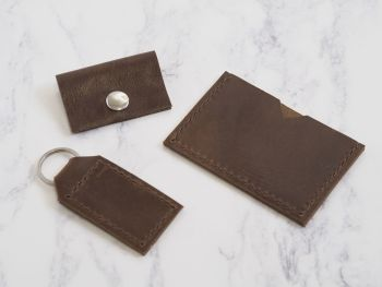 Rustic Brown Leather Mini Bundle Gift Set 1