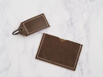 Rustic Brown Leather Mini Bundle Gift Set 2