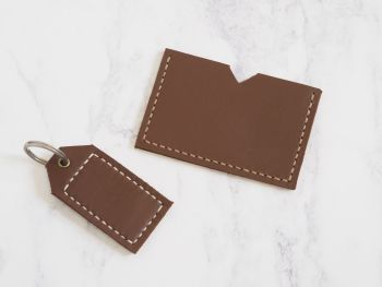 Brown Leather Mini Bundle Gift Set
