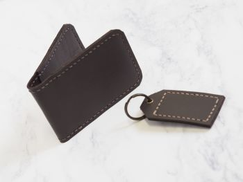 Dark Brown Leather Mini Bundle Gift Set