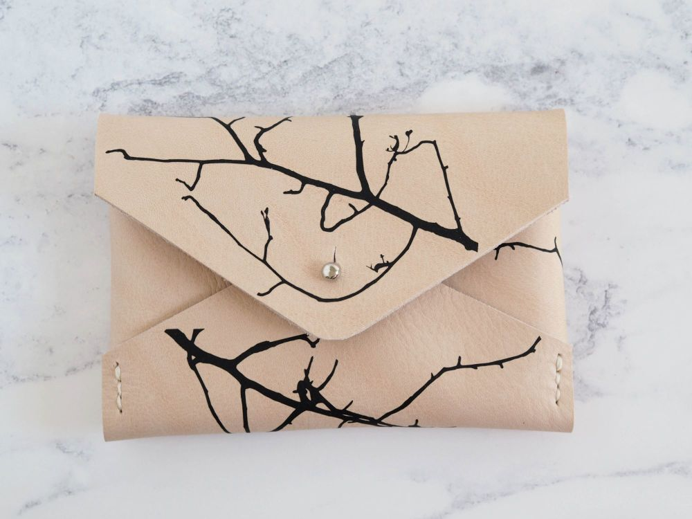 Multiple Sizes - Twig Design Folded Pouch