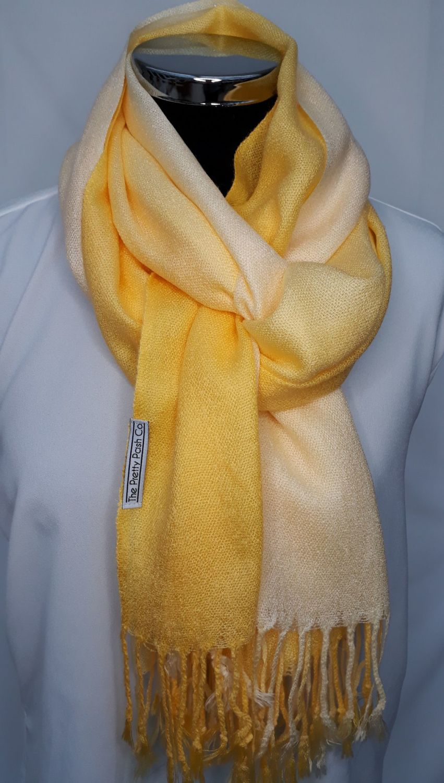 Yellow to Cream Ombre Pash.