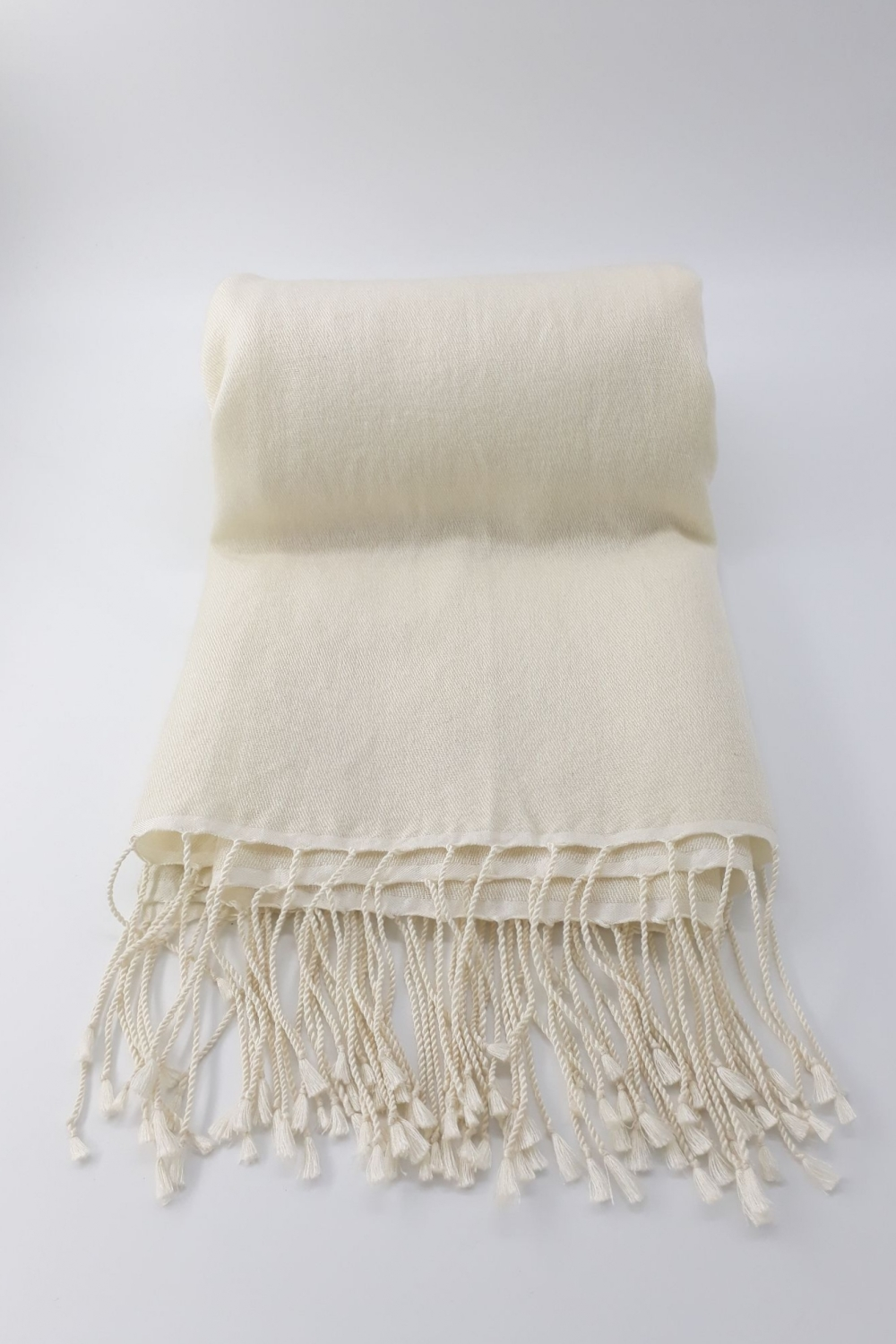 Plain Jayne  Winter White 70% Cashmere/30% Silk Pashmina
