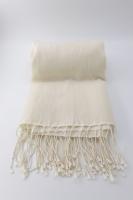 Plain Jayne  Winter White 70% Cashmere/30% Silk Pashmina