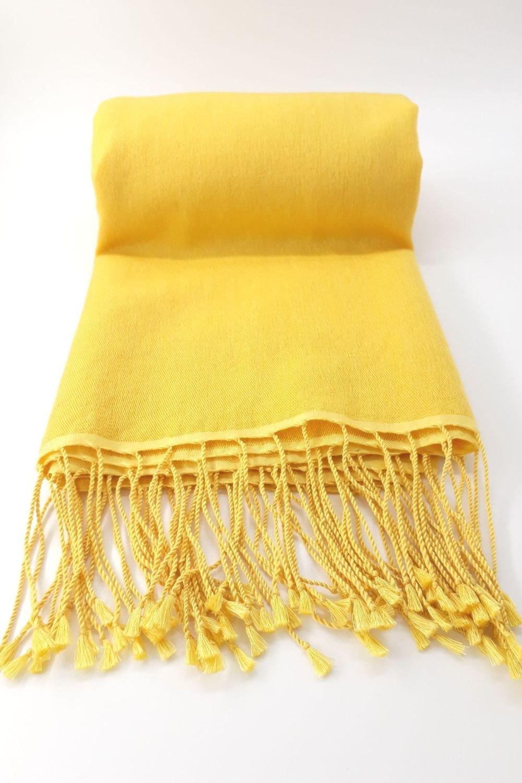 Plain Jayne  Golden 70% Cashmere/30% Silk Pashmina