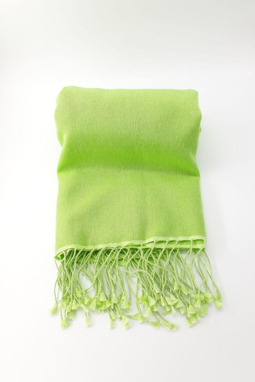 Plain Jayne  Green 70% Cashmere/30% Silk Pashmina