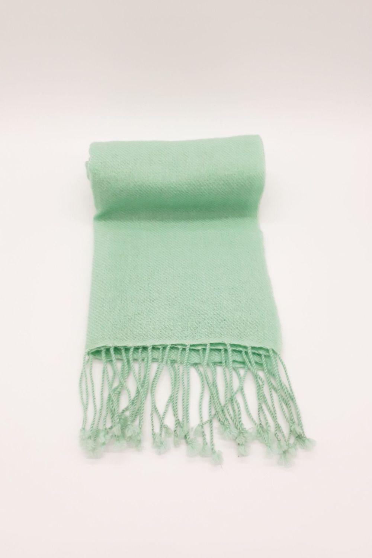 Plain Jayne 'soft' Mint Green 100% Cashmere Scarf