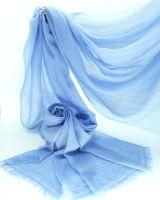 Plain Jayne Skinny Blue 100% Cashmere Summer Pashmina