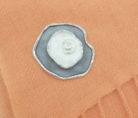 Pashmina Magnet - Grey White Flower