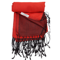 Silken Sophie Fire Engine Red and Black Reversible