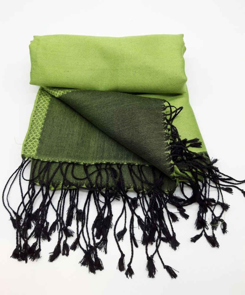 Silken Sophie Green and Black Reversible