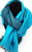 Silken Kingfisher Blue and Black Reversible