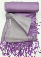 Silken Sopie Purple and Silver Reversible