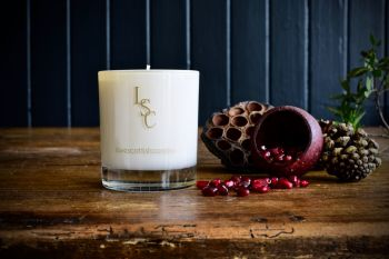 Black Pomegrante Scented  Candle