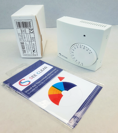 See Clear Thermostat Sticker - Compatible with Corgi and Seitron