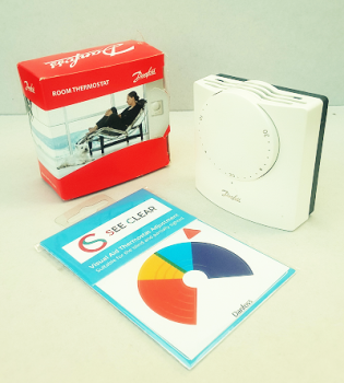 See Clear Thermostat Sticker - Compatible with Danfoss