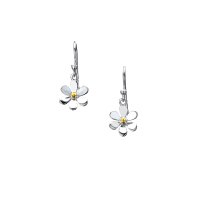 Sterling Silver Dainty Daisy Earrings