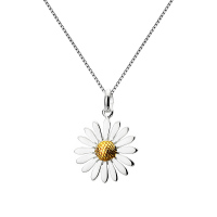 Sterling Silver Multi Petal Daisy Necklace