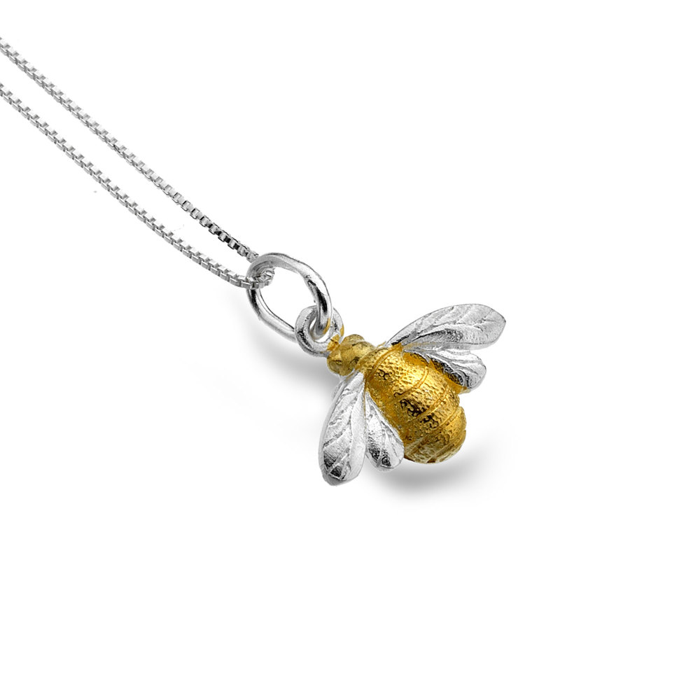Bumblebee with Brass Body Necklace