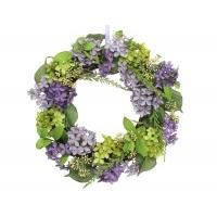 Purple Hydrangea Door Wreath