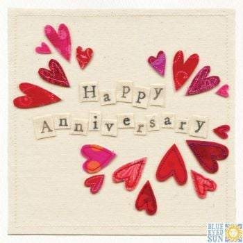 Happy Anniversary Hearts Card