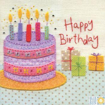 Happy Birthday Pink Cake Card