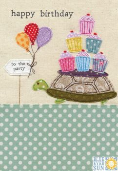 Happy Birthday Tortoise Cupcake Card