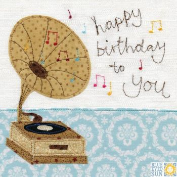 Happy Birthday to You Gramaphone Card
