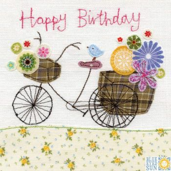 Happy Birthday Bird and Bicycle Card