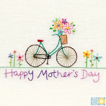 Happy Mother's Day Stitched Bike