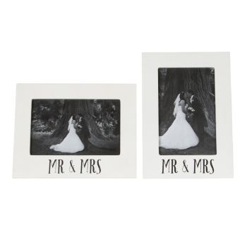 Mr and Mrs Wedding Frame - Horizontal