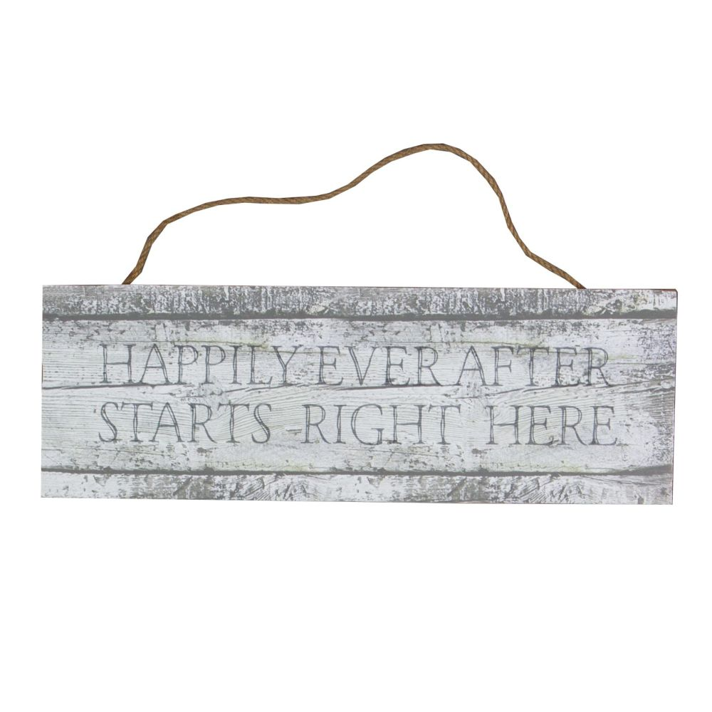 Happy Ever After Starts Right Here Sign