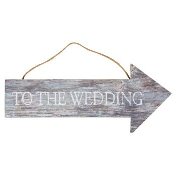 ''To The Wedding' Arrow Sign