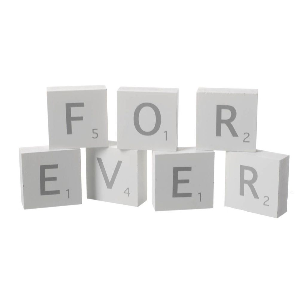 Forever Scrabble Letters Ornament