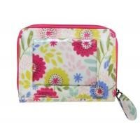 Floral Design Oil cloth Purse