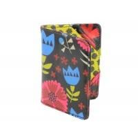 Gisela Graham Dark Flower Design Passport Cover