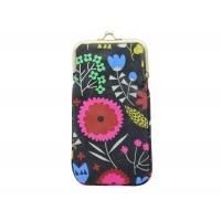 Gisela Graham Dark Flower Design Glasses Case